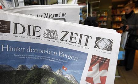 Erste Schweizer Ausgabe der Zeit (Keystone)