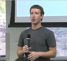 Mark Zuckerberg bei der Vorstellung der neuen Facebook-Features