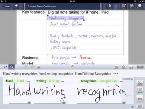 Screenshot von 7notes