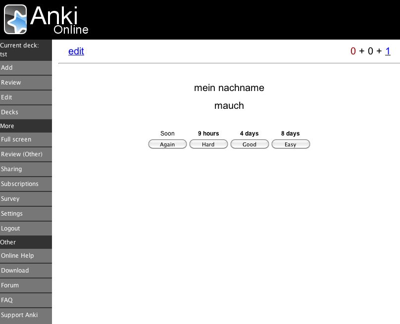 Anki Online