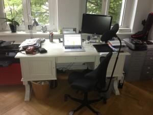 Arbeitsplatz von Nils Göldner