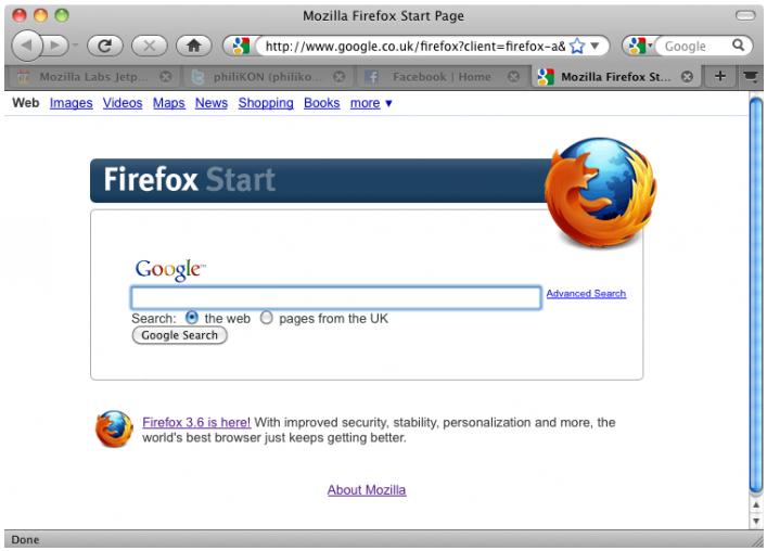 Screenshot von Firefox mit installierter BarTab-Extension (Klick für größere Ansicht). Man sieht: Außer dem aktuellen Tab wurden keine weiteren geladen - sie sind zur Kennzeichnung leicht «abgedimmt». (Screenshot von addons.mozilla.org)