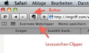 Web-Clipping in Safari
