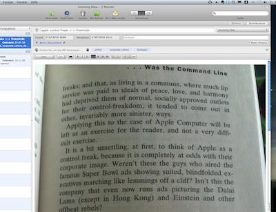 Ein Schnappschuss einer interessanten Textpassage (Klicken für Großansicht)