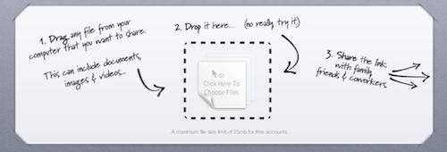 droplr: in 3 Schritten Dateien mit Freunden geteilt