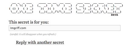 Der Link wurde noch nicht geklickt: Dein Geheimnis erscheint
