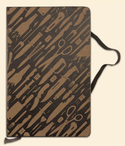 Graviertes Moleskine, hier mit einem der vorgegebenen Designs.