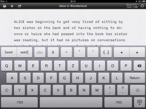 iA Writer: Texteditor mit zusätzlichen Tasten