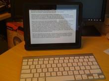 Apples iPad mit externer Tastatur