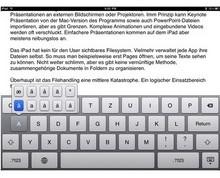 Das Tippen ist ist auf dem iPad kein Vergnügen