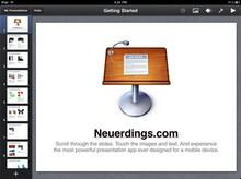 Keynote auf dem iPad sieht gut aus