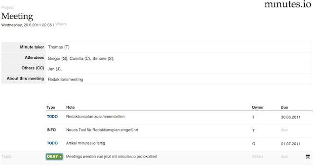 minutes.io: Meetings ganz einfach protokollieren: förderland