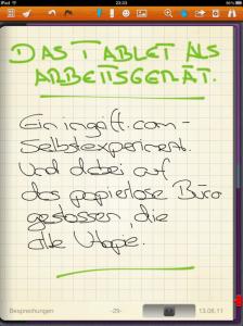 Noteshelf: Handnotizen auf dem iPad