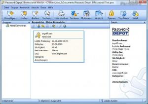 Password Depot Hauptbildschirm