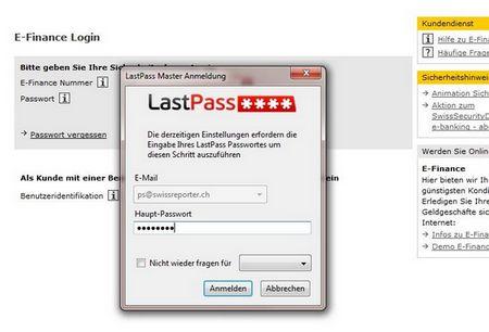 LastPass verlängt bei kritischen Einträgen nochmals das Masterpasswort
