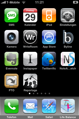 Das PTO-Icon auf dem iPhone-Screen