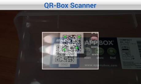 QR-Box-Scanner, AppMyBox-Test