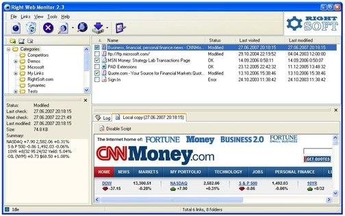 Screenshot von Right Web Monitor