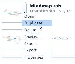Duplizieren einer Mindmap