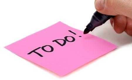 Alle Ausrufezeichen helfen nicht: Ein paar Punkte auf der To-Do-Liste bleiben ewig unerledigt.