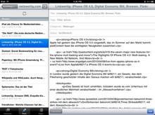 Wordpress fürs iPad beherrscht noch kein WYSIWYG